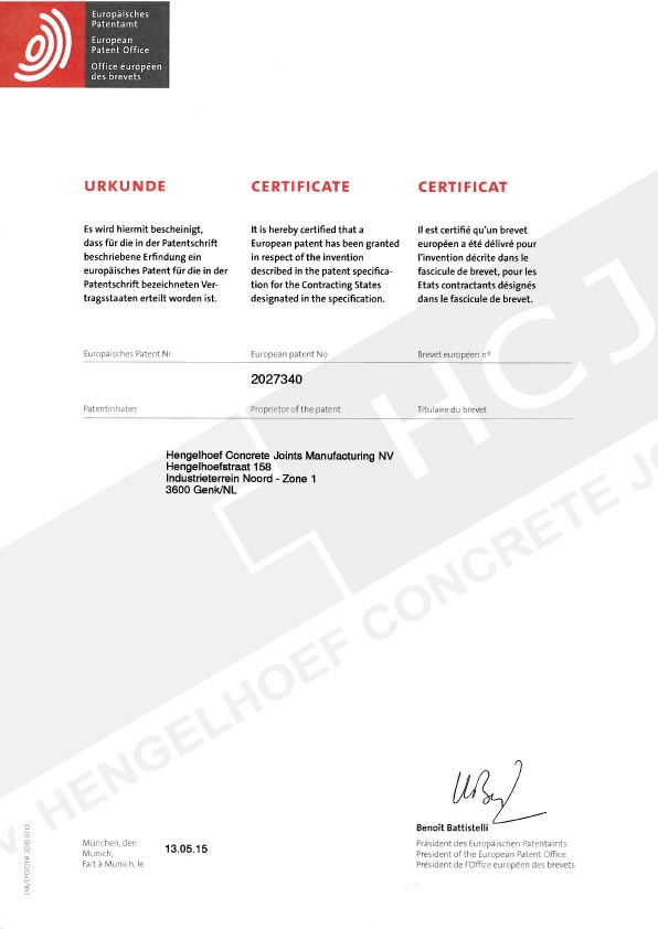 HCJ-001-150513-Certificate-EP-Patent